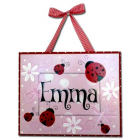artwork / name plaques Wooden Name Plaques personalised for kids