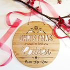 christmas Natural Timber / Bamboo Wood Personalised Products