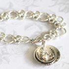 BRACELETS personalised silver and gold for mum women - Handstamped and Engraved