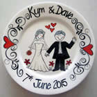 Personalised Wedding Plates