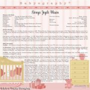 Babyography� Birth Certificate Design 2 (30.5cms x 30.5cms) Pink Unframed/Laminated/Framed/ Canvas or MDF Block Mounted