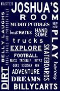 Personalised Bus Scroll for Boys Room - WHAT BOYS ARE MADE OF - Bus Scroll Tram Scroll