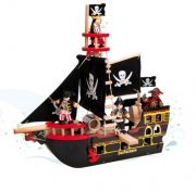 Barbarossa Pirate Ship Wooden Toy for toddlers / kids by Le Toy Van