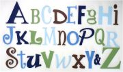 Wooden Alphabet Set Letters Full Wooden Wall Set A-Z Choose your colour theme SMALL SET - BOYS- to hang on nursery or bedroom wall