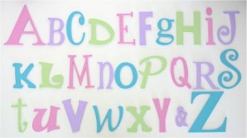 Wooden Alphabet Set Letters Full Wooden Wall Set A-Z Choose your colour theme SMALL SET - GIRLS - to hang on nursery or bedroom wall