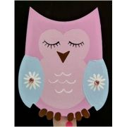 Artwork Hanger Set to display and organise your childs pictures - Owl - Pink and Pale Blue
