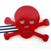 Artwork Hanger Set to display and organise your childs pictures - Pirate Crossbones - Red