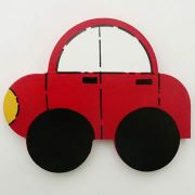 Artwork Hanger Set to display and organise your childs pictures - Car Red
