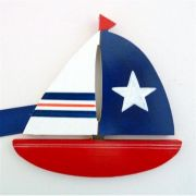 Artwork Hanger Set to display and organise your childs pictures - Sail Boats - Red and Navy