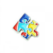 Charities Charm for Floating Memory Locket - Autism Awareness Jigsaw