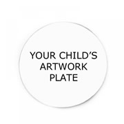 Personalised Backing Plate for Floating Memory Locket - Your Childs Artwork Plate