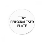 .Personalised Tiny Backing Plate for Floating Memory Locket - Tiny Personalised Plate