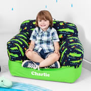 .Bean Bag Chair for Kids - Personalised  - Crocodile