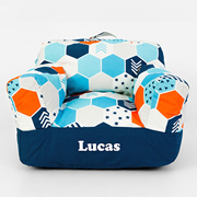 .Bean Bag Chair for Kids - Personalised  - Hexagon Matrix