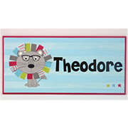 Personalised Name Plaque for kids wall or door Lion