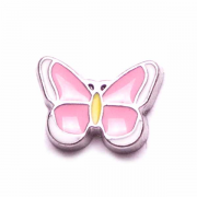 Animal Charm for Floating Memory Locket - Butterfly - Pink