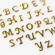 .Letters Charm for Floating Memory Locket - Cursive Gold Letters