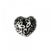 Love Charm for Floating Memory Locket - Flower Swirl Heart