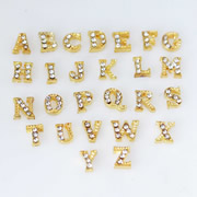 .Letters Charm for Floating Memory Locket - Gold Sparkle Letters