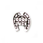 Animal Charm for Floating Memory Locket - Good Luck Horse Shoe