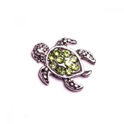 Animal Charm for Floating Memory Locket - Green Turtle with Sparkles