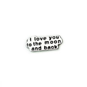 Love Charm for Floating Memory Locket - I Love You To The Moon and Back