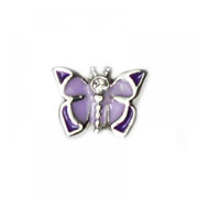 Animal Charm for Floating Memory Locket - Purple Butterfly
