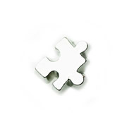 Charities Charm for Floating Memory Locket - Silver Puzzle Piece