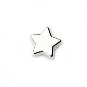 Christmas Charm for Floating Memory Locket - Silver Star