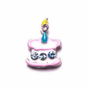 Food Charm for Floating Memory Locket - Birthday Cake