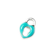 Love Charm for Floating Memory Locket - Blue Heart Lock