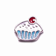 Food Charm for Floating Memory Locket - Cupcake