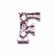 Letters Charm for Floating Memory Locket - F