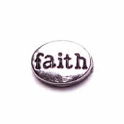 Faith Charm for Floating Memory Locket - Faith Oval