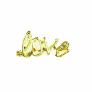 Love Charm for Floating Memory Locket - Gold Love Word