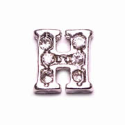 Letters Charm for Floating Memory Locket - H