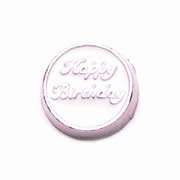 Messages Charm for Floating Memory Locket - Happy Birthday