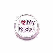 Messages Charm for Floating Memory Locket - I Love My Kids