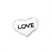 Love Charm for Floating Memory Locket - Love - Heart Silver
