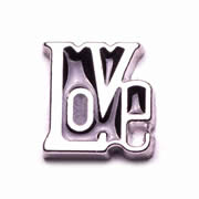 Love Charm for Floating Memory Locket - Love Word - Black
