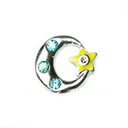 Fortune/Luck Charm for Floating Memory Locket - Moon and Star