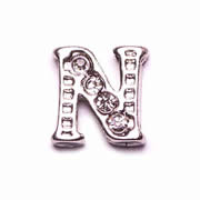 Letters Charm for Floating Memory Locket - N