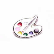 Hobbies Charm for Floating Memory Locket - Paint Palate