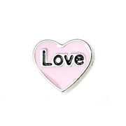 Love Charm for Floating Memory Locket - Pink Love heart