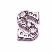 Letters Charm for Floating Memory Locket - S