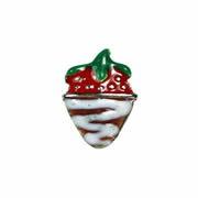 Food Charm for Floating Memory Locket - Strawberry Dipped in Chocolate