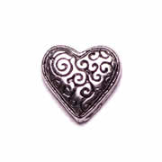 Love Charm for Floating Memory Locket - Swirly Heart
