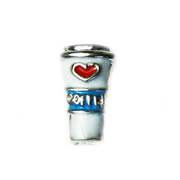 Food Charm for Floating Memory Locket - Take Away Coffee with Heart