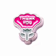 Messages Charm for Floating Memory Locket - Thank You Flower