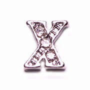 Letters Charm for Floating Memory Locket - X